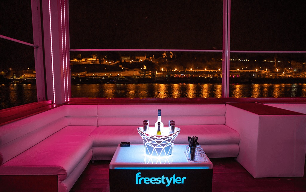 vip table at freestyler belgrade night club